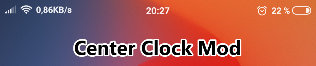 miui center clock mod enabled