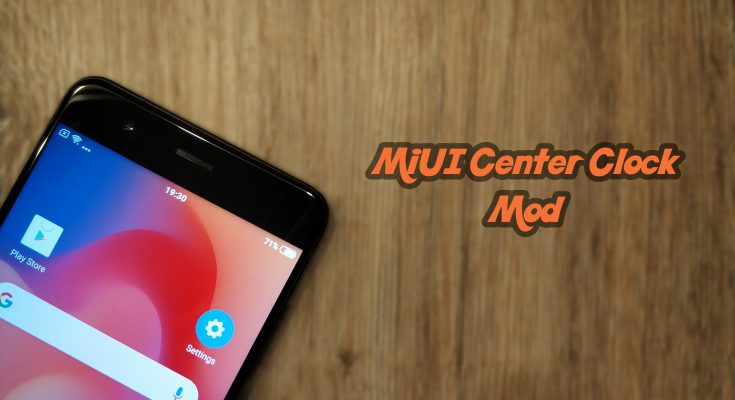 MiUI Center Clock Mod