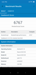 Mi 8 SE Performance Review mi-globe_performance_review_mi8se_geekbench_compute
