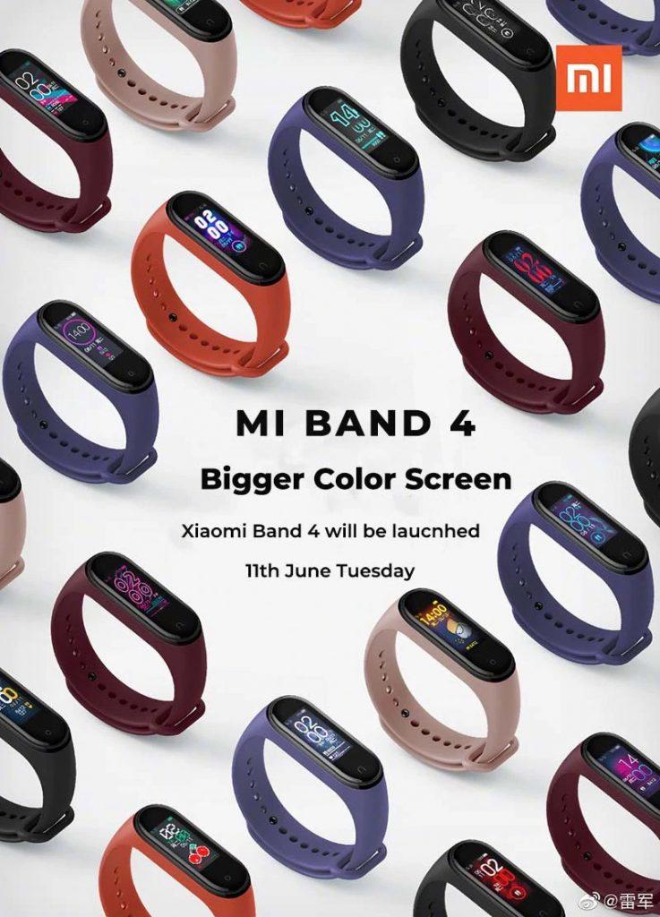 xiaomi mi band 4  colors